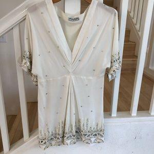 All Saints spitalfields cream embellished dress